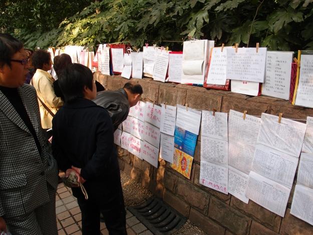 På söndagar i Shanghai så fylls parkerna av föräldrar och deras platsannonser. Vad de annonserar ut? Sina söner och döttrar. En ren och skär människomarknad där CVs hängs upp i hopp om att finna kärleken. Och självklart trygga framtiden för familjens namn.
