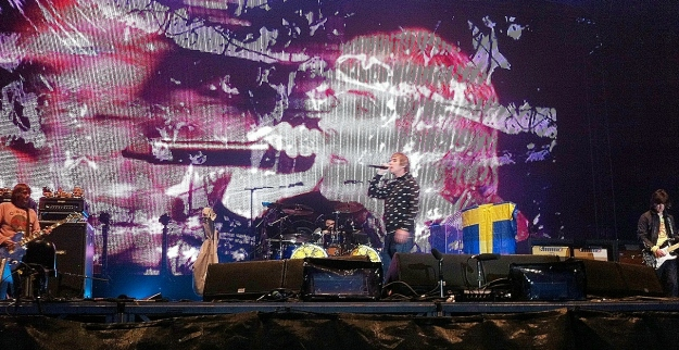 Watching The Stone Roses live at Hultsfred, Sweden, in 2012.