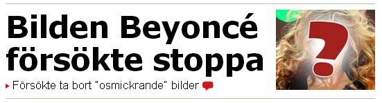 Bilden Beyonce försökte stoppa