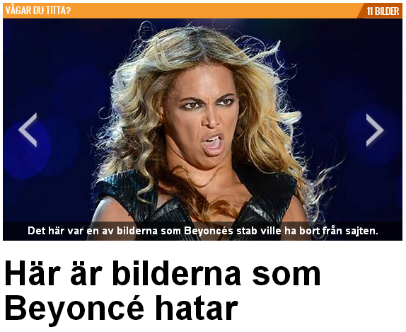 Bilderna Beyonce hatar