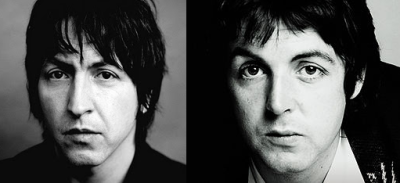 Gem Archer and Paul McCartney